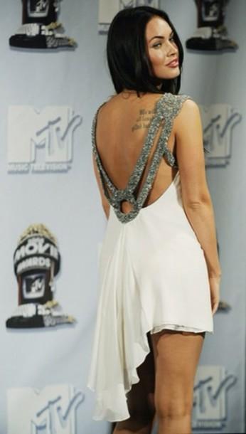dress white dress party beautiful megan fox amazing diamonds summer fashion girly