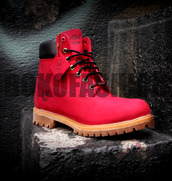 red timberlands,boots,red boots,custom,custom timberlands,custom re timbelands