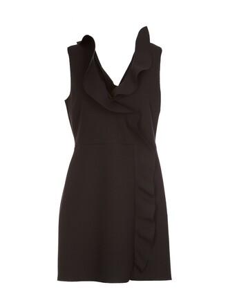 dress ruffle dress sleeveless ruffle black