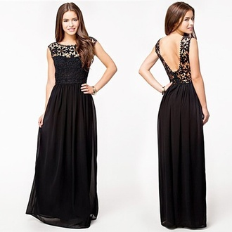 black black dress long dress party prom dress prom gown black lace dress black lace prom dresses long dress