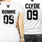 Bonnie and clyde couple shirts ★ the gun & flower ★ edition