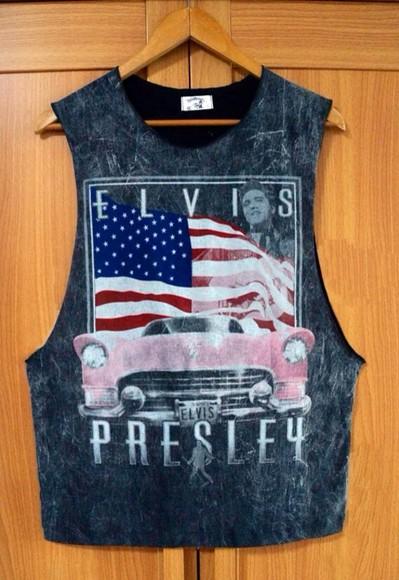 tank top elvis presley elvis vintage vintage soul shirt skirt