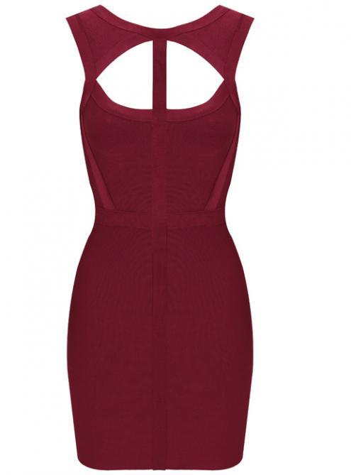 Cutout Halter Bandage Dress H377R $99
