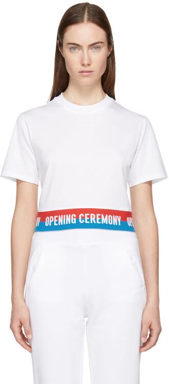 t-shirt shirt cropped white top