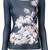 D.Exterior floral top, Women's, Size: Large, Blue, Polyamide