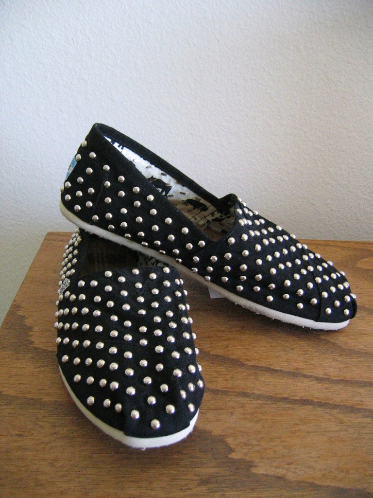 Get your own custom studded toms classics shoes!