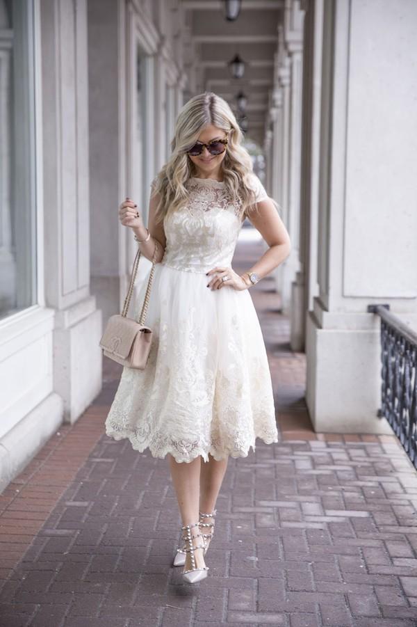 Chi Chi London Premium Metallic Lace Midi Prom Dress with ...