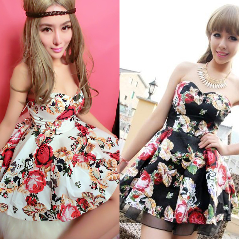 2013 Sexy tube top spaghetti strap broken fancy slim tube top puff skirt dress one piece dress,party dress Free Shipping on Aliexpress.com