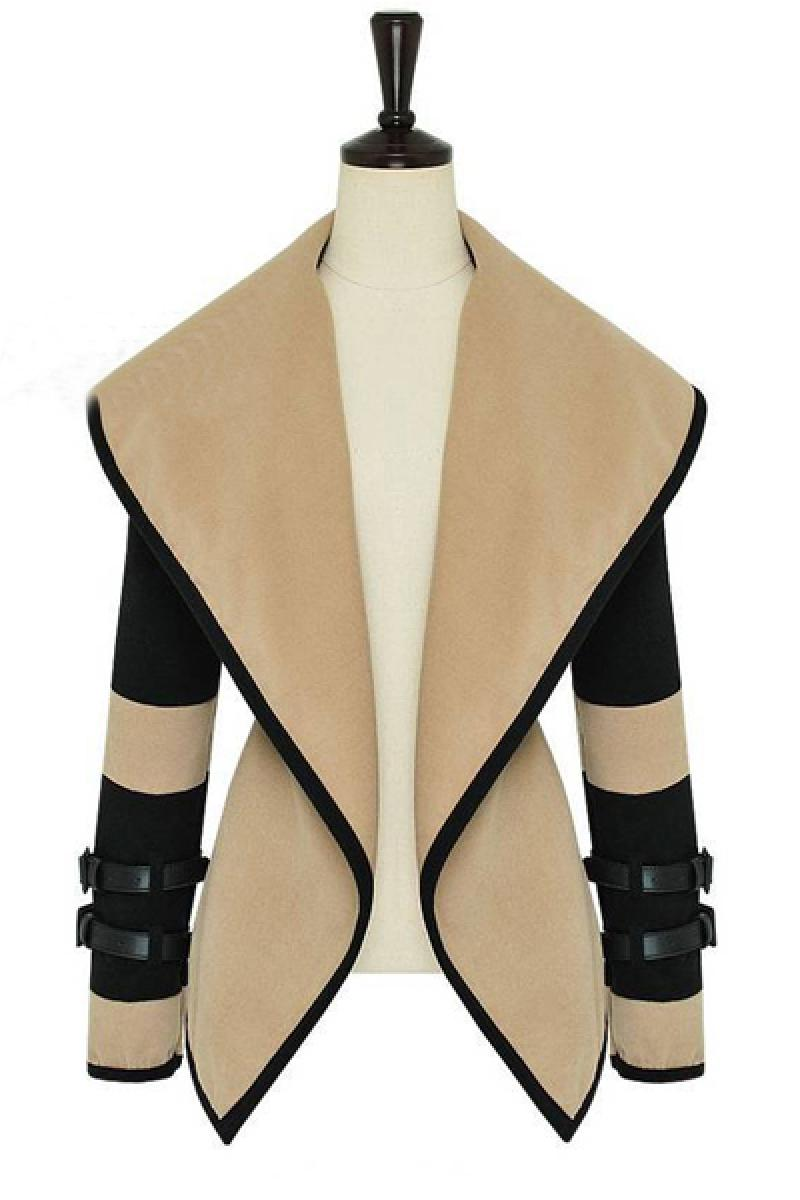 Autumn & Winter Big Lapel Waistcoat Woolen Overcoat,Cheap in Wendybox.com