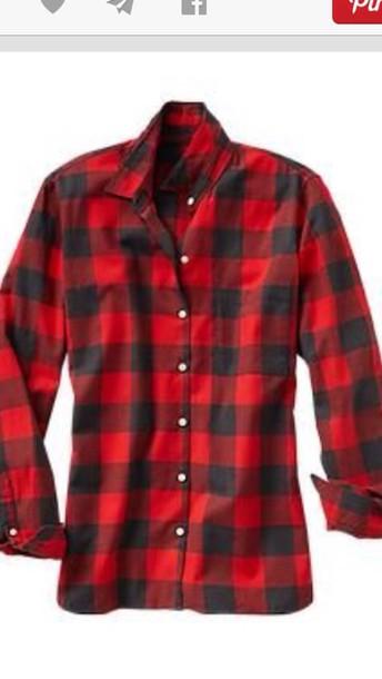 Shirt buffalo check red flannel shirt plaid wheretoget for Buffalo check flannel shirt