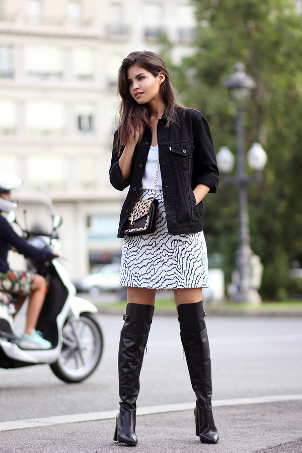 fake leather blogger jacket jewels