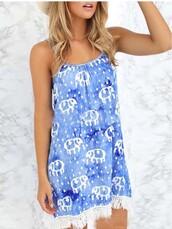 dress,girl,girly,girly wishlist,mynystyle,blue,tribal pattern,boho dress,fashion,style,summer,tro,tropical
