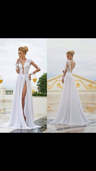 prom dress wedding dress lace dress white dress maxi dress dress