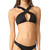 For Love & Lemons La Playa Ruffle Top - Black
