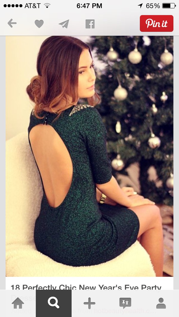sparkle gems green dress
