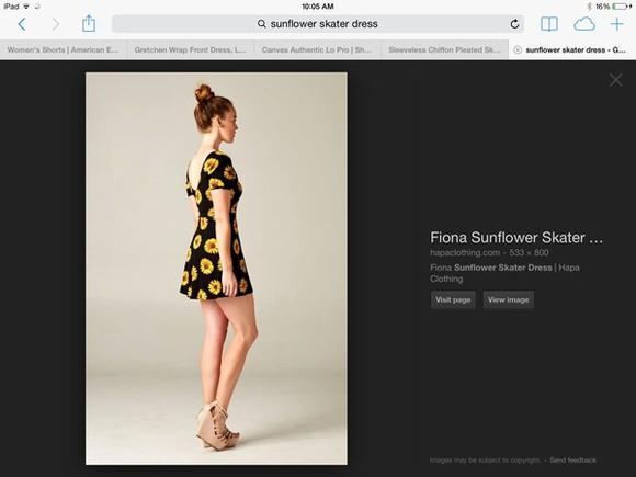 sunflower skater dress cute dress casual