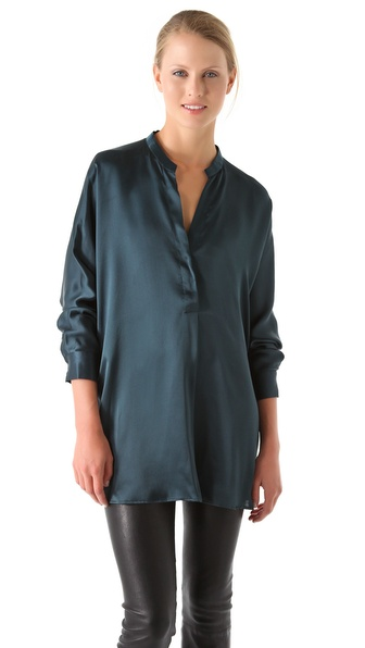Stand Collar Blouse Designs Images : Vince stand up collar blouse shopbop