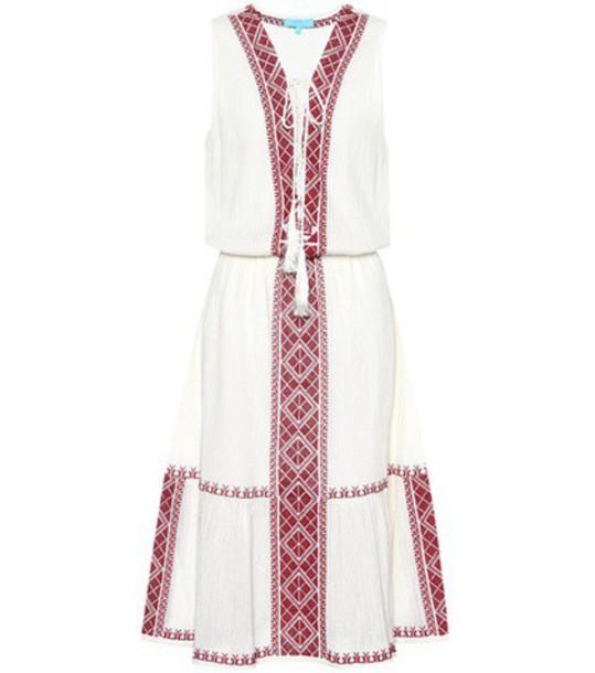Melissa Odabash dress midi dress midi cotton white