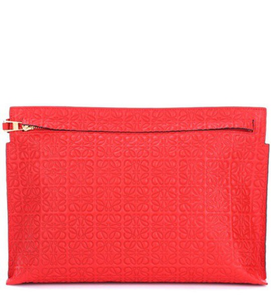 LOEWE leather clutch clutch pouch leather red bag