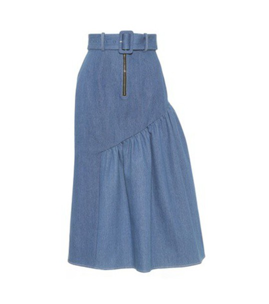Rejina Pyo skirt asymmetrical skirt asymmetrical blue
