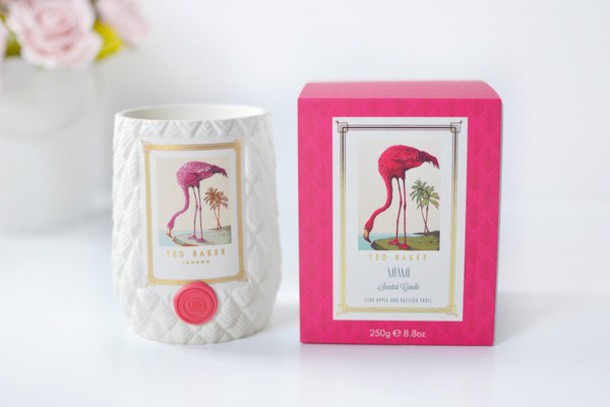 temporary secretary blogger candle flamingo home accessory ted baker pink beach house