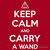 """Keep Calm and Carry a Wand T-Shirt"" T-Shirts & Hoodies by wittytees 