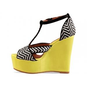 Tanya black yellow white jeffrey campbell