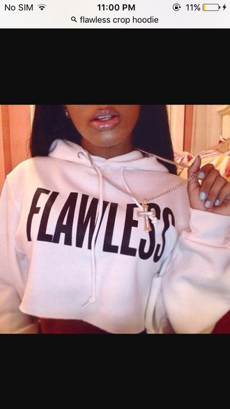 sweater crop girly girl girly wishlist cropped cropped hoodie flawless
