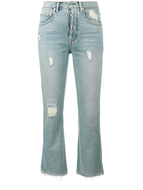 jeans flare jeans flare high women spandex cotton blue