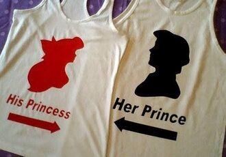 shirt cuple princess disney the little mermaid disney princess cute matching shirts