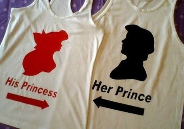 Shirt Cuple Princess Disney