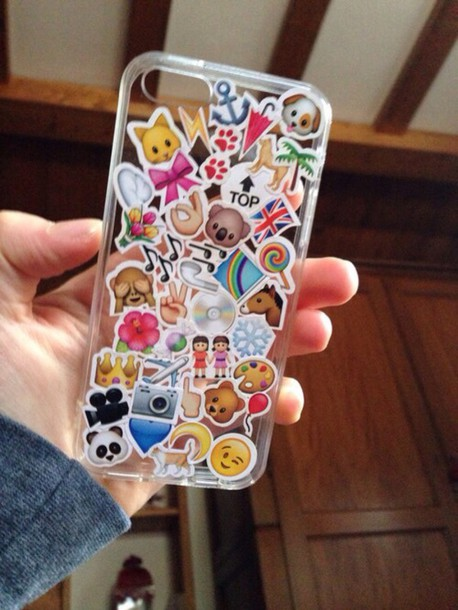 phone cover emoji print