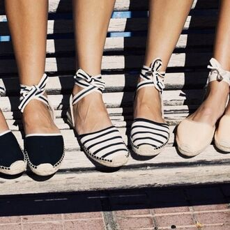 shoes espadrilles summer holidays summer outfits stripes girl girly girly wishlist lace up cute espadrillas