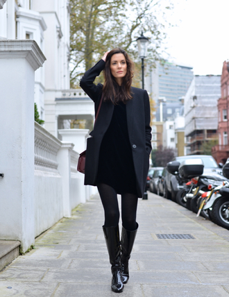 northern light blogger coat black boots