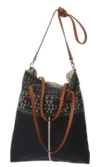 bag purse black bags aztec aztec design