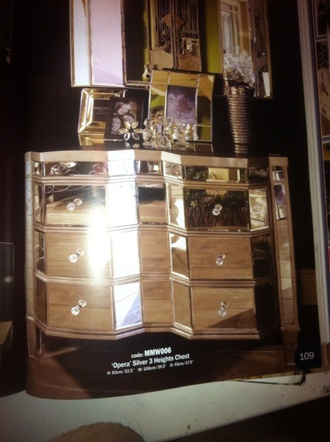 mirror drawer home accessory metallic