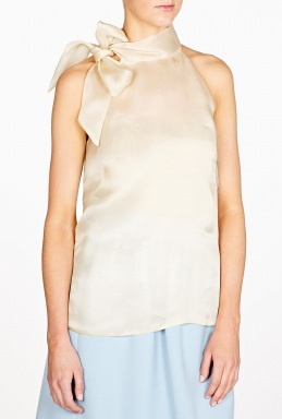 Sleeveless organza top by goat