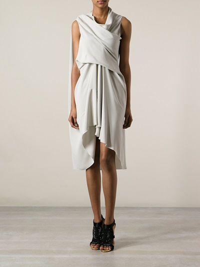 Rick Owens Draped Dress - Nike - Via Verdi - Farfetch.com