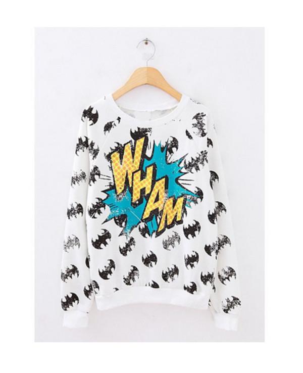 wham comincs batman sweater batman shirt wow blogger trendy swag elegant dress sweater