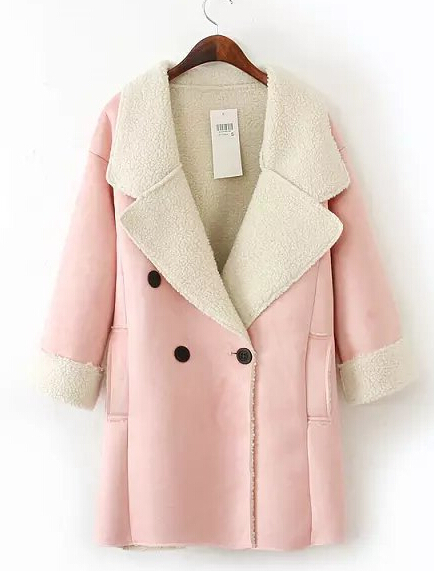 Aliexpress.com : Buy Casacos Femininos 2014 Brand New Women Clothing Winter large Lapel Suede Double breasted Cashmere Woolen Coat Long Trench from Reliable coats parts suppliers on Vogue Official Online Shop