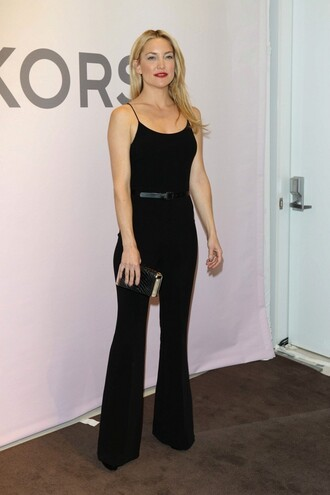 jumpsuit kate hudson fashion week 2015 black pants