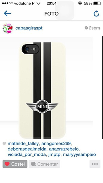 phone cover black and white!➡️minii