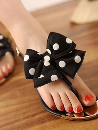 shoes black and white bow shoes