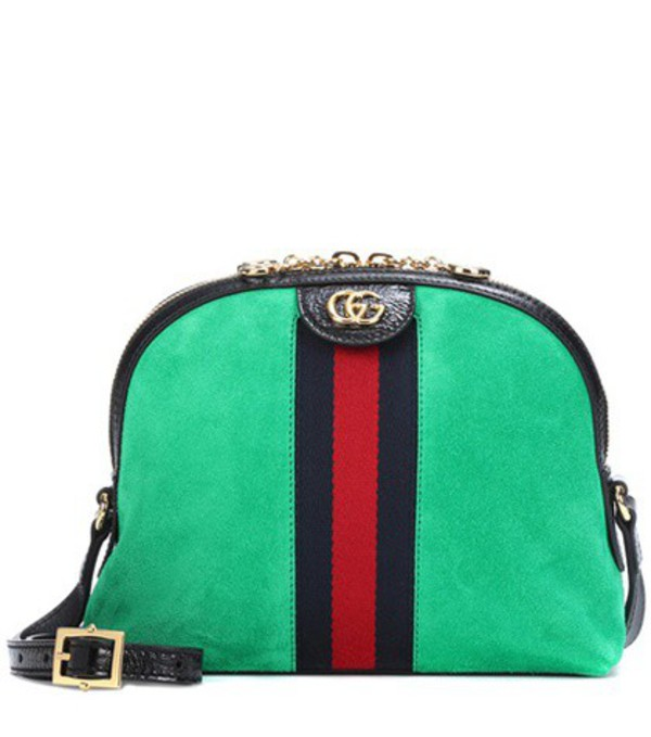 Gucci Ophidia suede crossbody bag in green