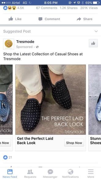 shoes black loafers white polka dot men
