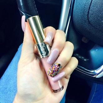 nail polish nude pink purple nudist pink purple cute