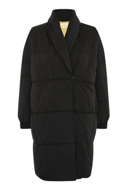 Topshop jacket puffer jacket black