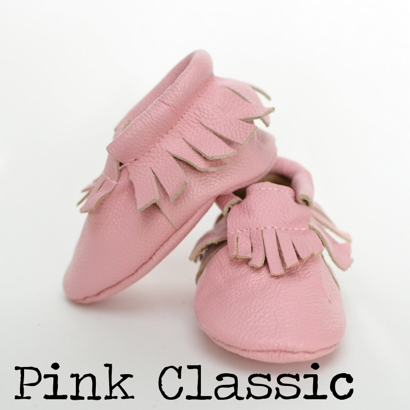 2 Styles Leather Moccs - Bow & Fringe - Up to 4T!