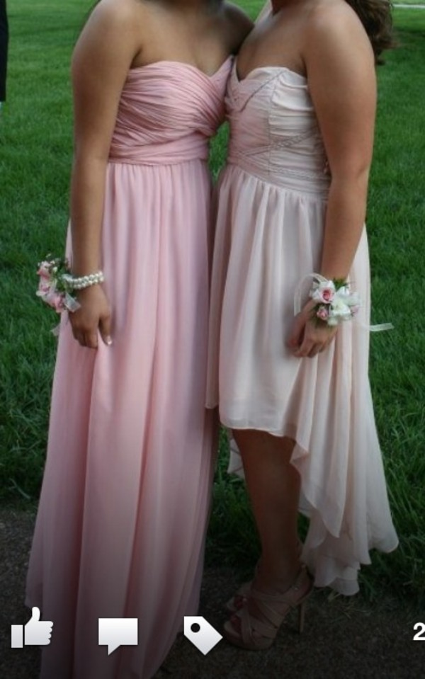 dress, prom, pink, ice pink, strapless, sleeveless, pretty ...