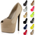 Ladies Peep Toe Concealed Platform Womens 7 Inch High Stiletto Heel Court Shoes | eBay